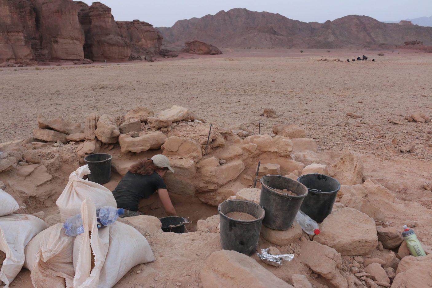 Timna fouilles
